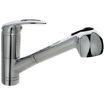 Single-Handle Pull-Out Sprayer Kitchen Faucet in Chrome