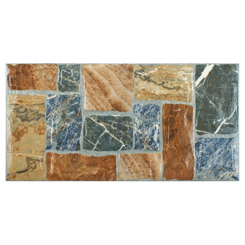 Merola Tile Amazona Caliza Brillo 20-1/4 in. x 10 in. Ceramic Floor and Wall Tile (14.52 sq. ft. / case)
