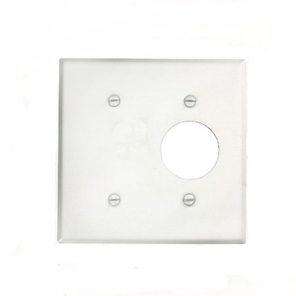 2gang standard size 1single receptacle 1 no device blank plastic combination