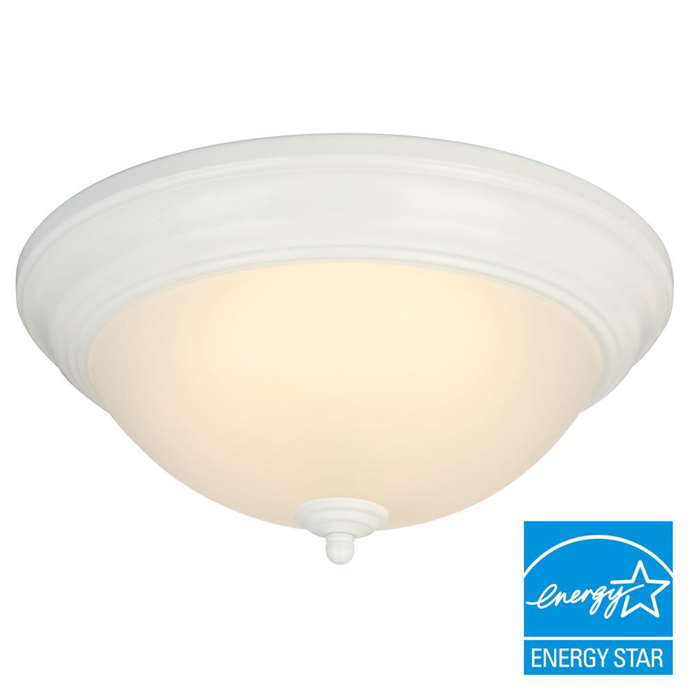 13 in. White LED Flushmount