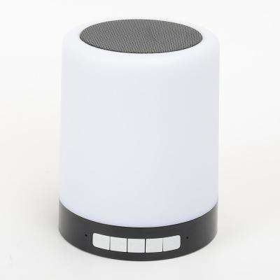 Rechargeable Touch Light with Bluetooth Speaker in Black