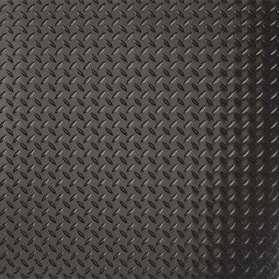 7.5 ft. x 17 ft. Diamond Tread Commercial Grade Midnight Black Garage Floor Cover and Protector