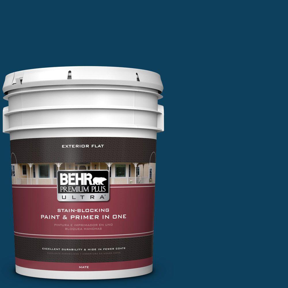 BEHR Premium Plus Ultra 5-gal. #ECC-53-3 Outer Space Flat Exterior Paint