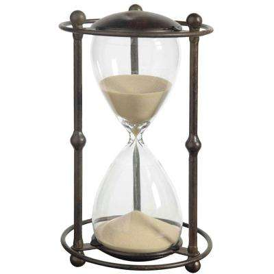 6 in. x 12.5 in. Tan Decorative Hour Glass