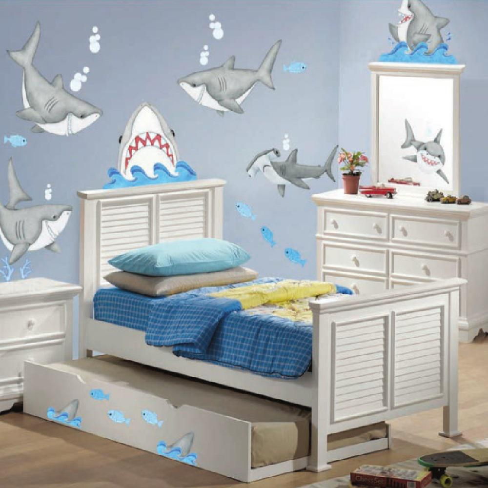 Fish'n Sharks Super Jumbo Wall Decal, Multi