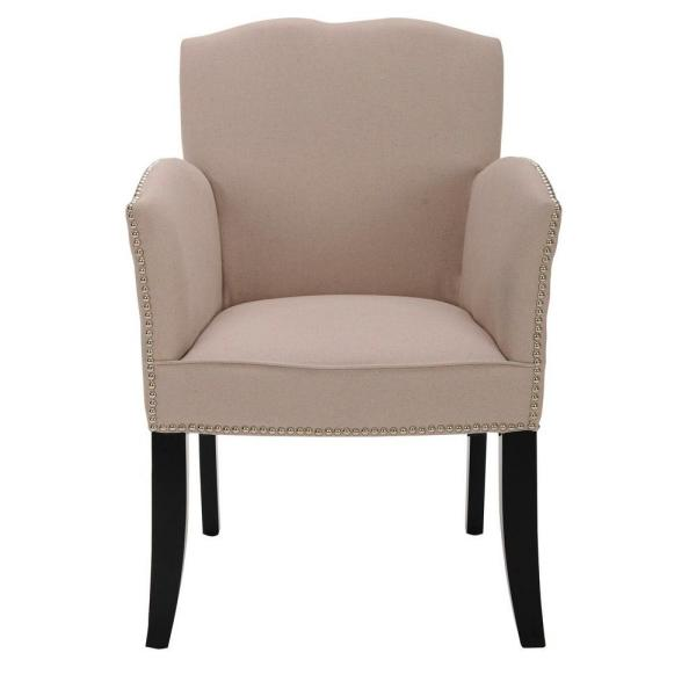 Safavieh Rachel Taupe Linen Arm Chair