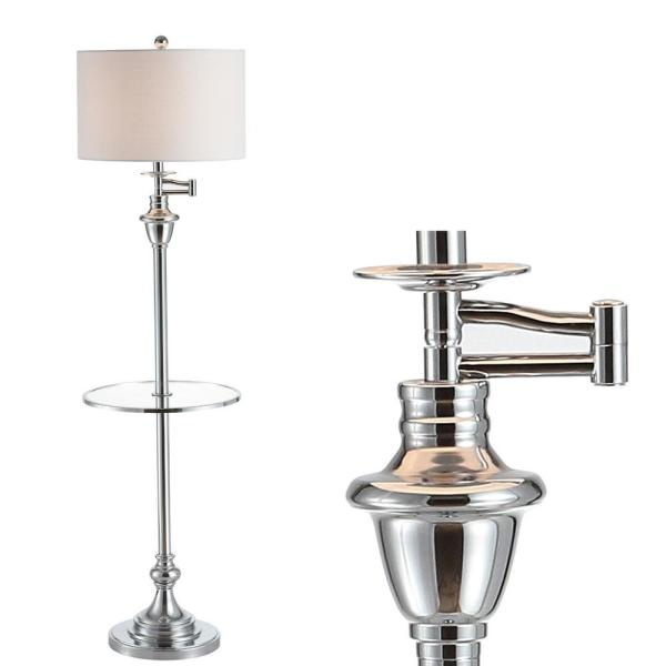 Cora 60 In Metal Gl Led Side Table