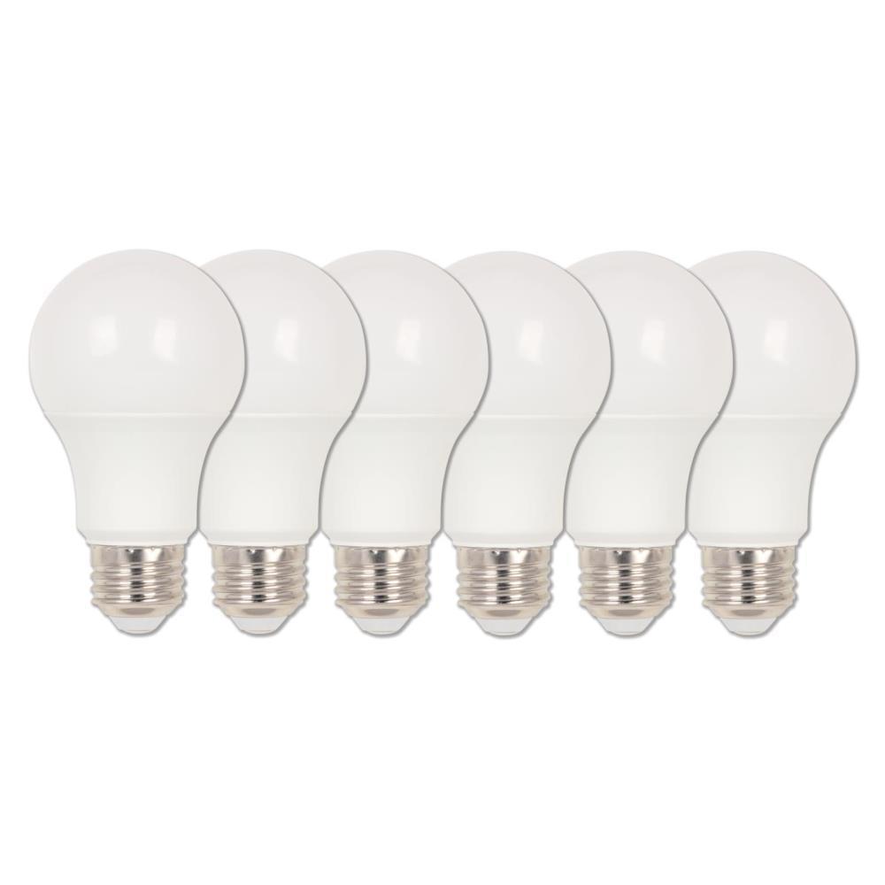 60-Watt Equivalent Omni A19 Dimmable ENERGY STAR LED Light Bulb Soft White Light (6-Pack))