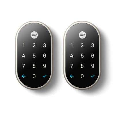 Nest x Yale Lock Satin Nickel with Nest Connect (2-Pack)
