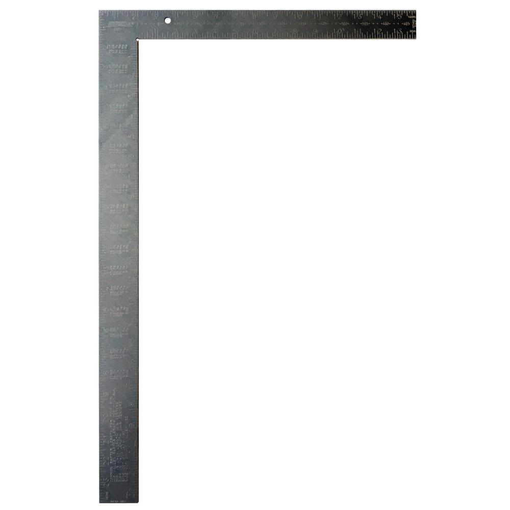 Johnson 16 In X 24 In Aluminum Framing Square Cs5 The Home Depot