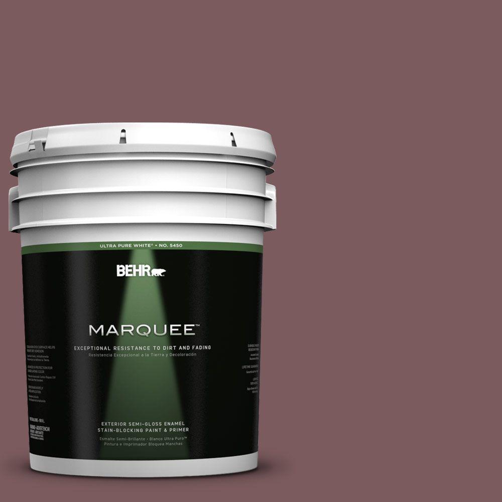 BEHR MARQUEE 5-gal. #110F-6 Purplestone Semi-Gloss Enamel Exterior Paint