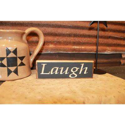 6 in. Black Pine Wood Sign