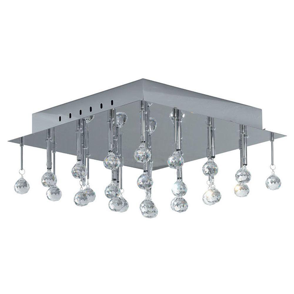 Eglo Soraya 16-Light Chrome Ceiling Light