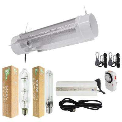 600-Watt HPS/MH Grow Light System with 6 in. Cool Tube with Wing Reflector