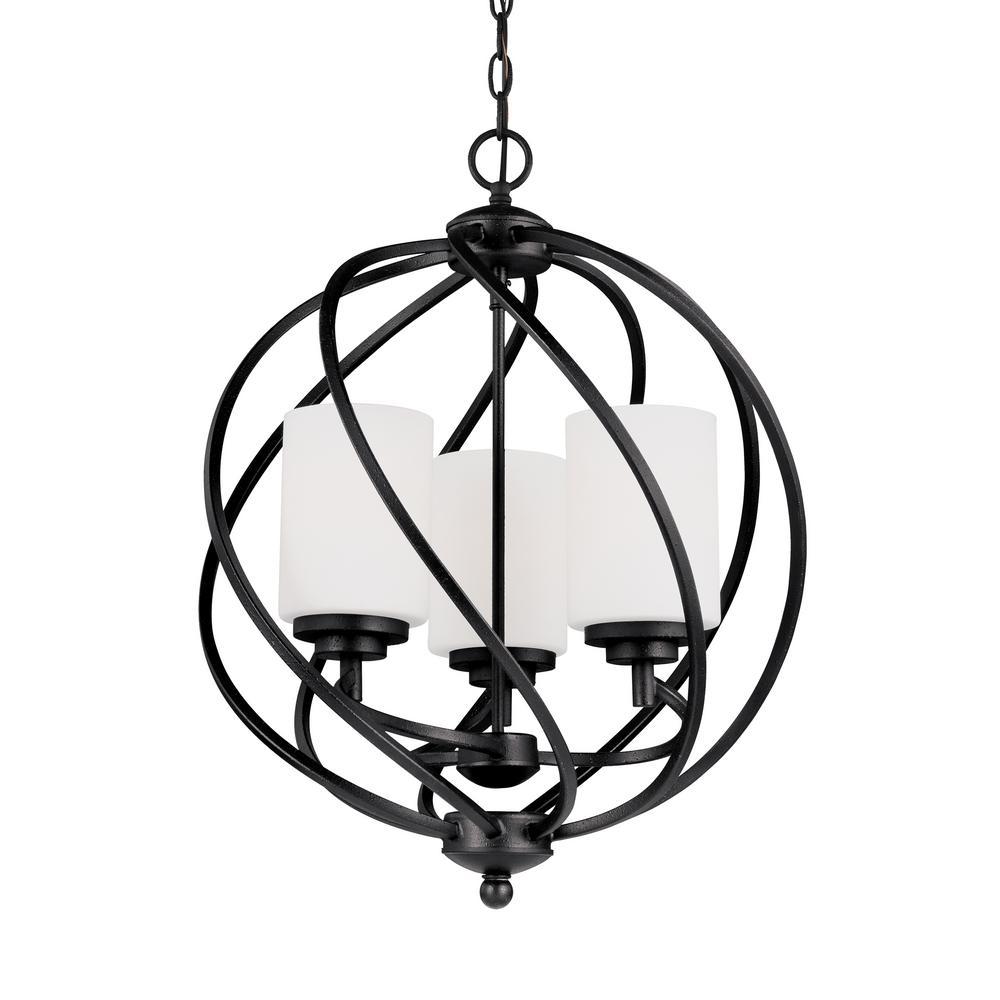 Goliad 3-Light Blacksmith Pendant with LED Bulbs