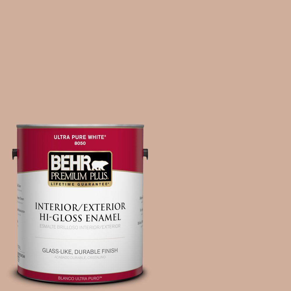 BEHR Premium Plus 1-gal. #S200-3 Iced Copper Hi-Gloss Enamel Interior/Exterior Paint