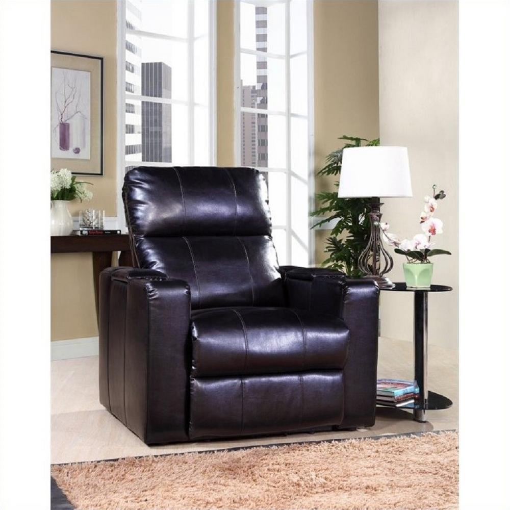 Larson Black Leather Recliner
