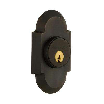 Cottage Plate 2-3/8 in. Backset Double Cylinder Deadbolt in Oil-Rubbed Bronze