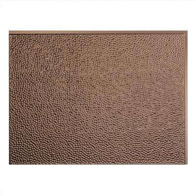 24 in. x 18 in. Hammered PVC Decorative Backsplash Panel in Argent Bronze