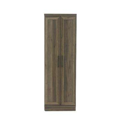 HomePlus 23 in. Salt Oak Wide Storage Cabinet