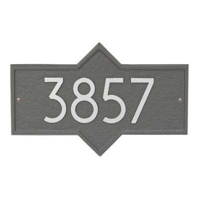 Hampton Modern Personalized Rectangle Wall Plaque