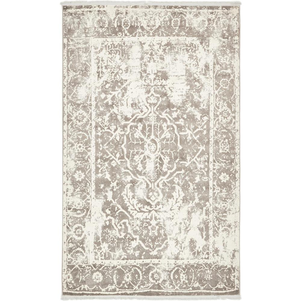 Arcadia Gray 5 ft. x 8 ft. Area Rug