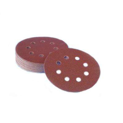5 in. 8-Hole 120-Grit Premium Heavy F-Weight Aluminum Oxide Hook and Loop Sanding Discs (50 per Box)