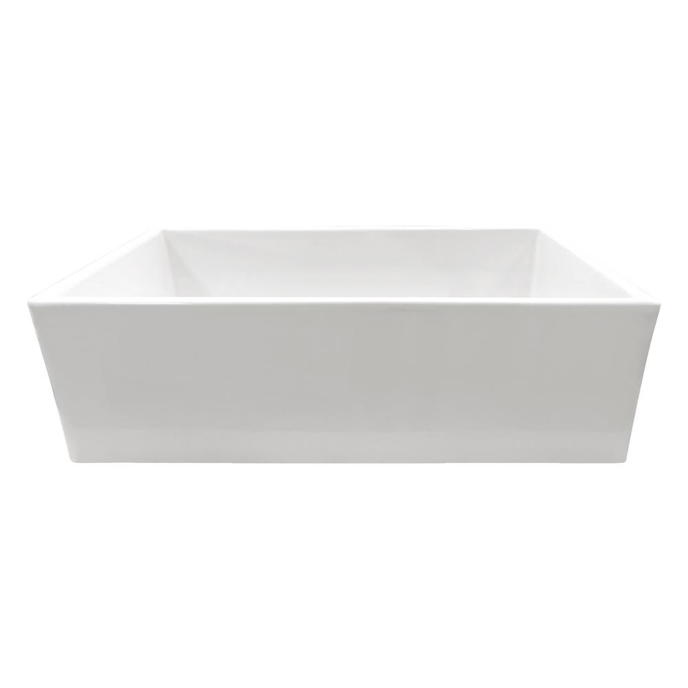 Charmant IPT Sink Company Apron Front Fireclay 33 In. Single Bowl Kitchen Sink In  White