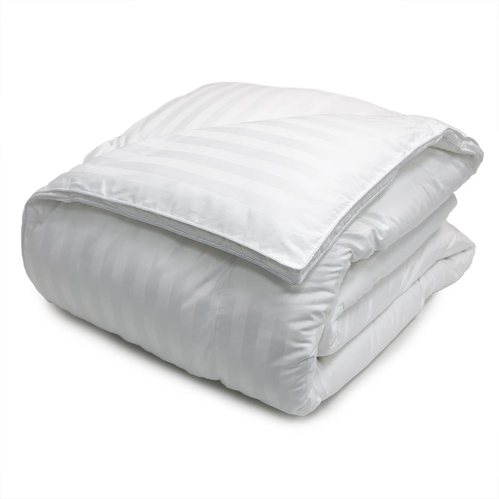 Blue Ridge Down Alternative 500 Thread CountDamask Stripe Twin Comforter 120001