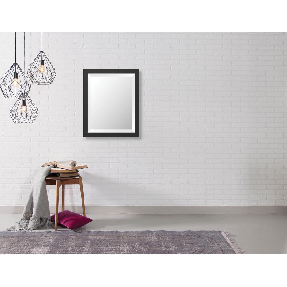 Hyde 18.875 in. x 22.875 in. Modern Framed Bevel Mirror