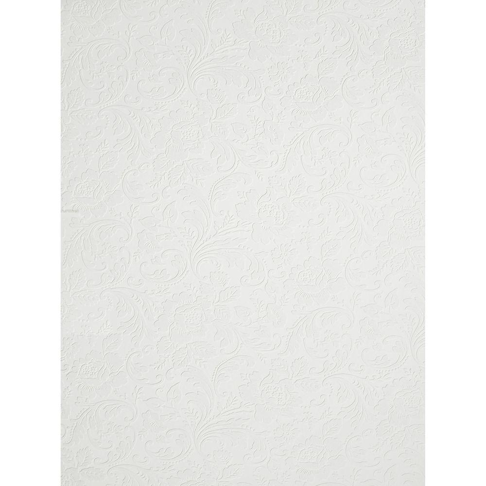 The Wallpaper Company 8 in. x 10 in. White Paintable Wallpaper Sample-DISCONTINUED