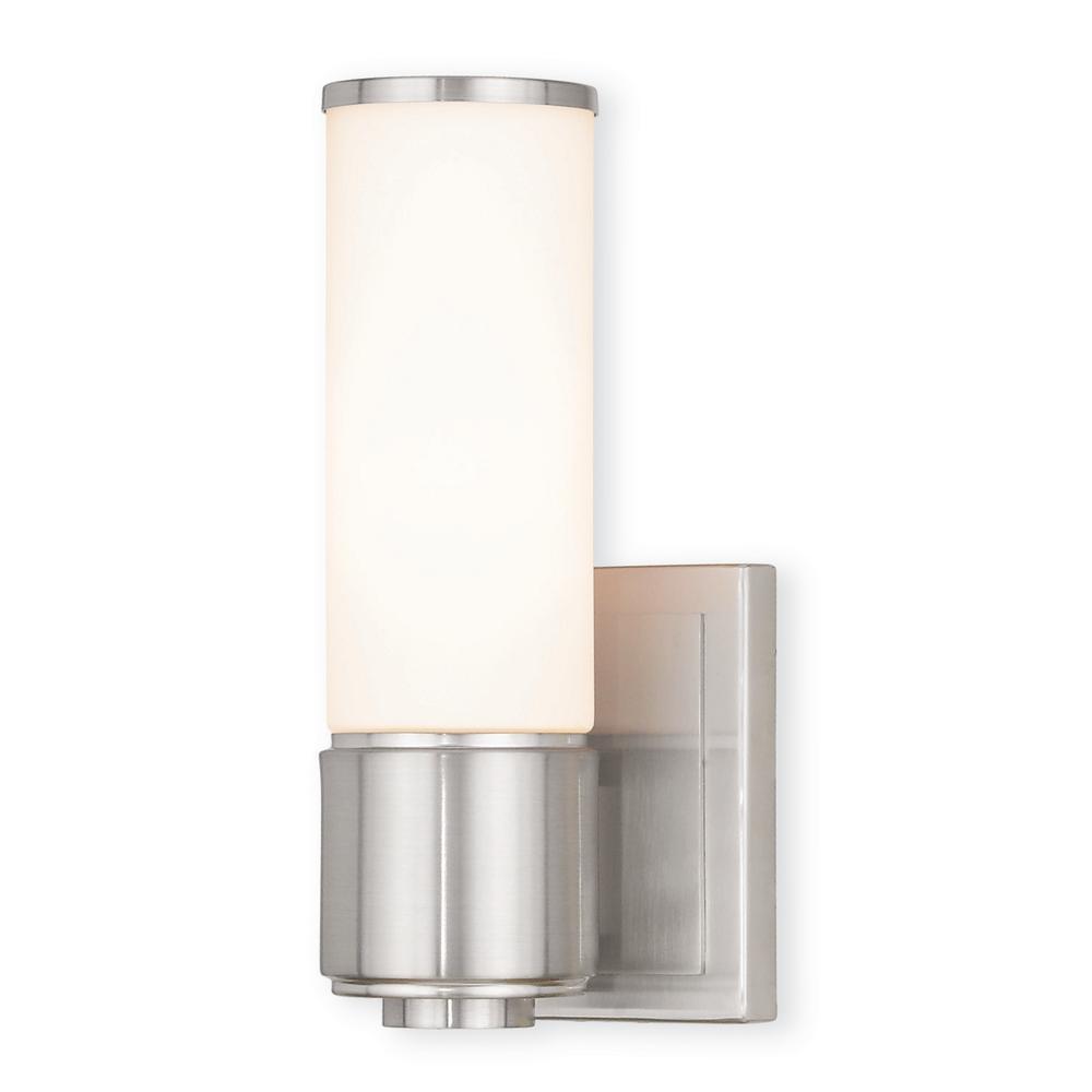 Livex Lighting Weston 1 Light Brushed Nickel Ada Bath