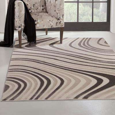 Metro Ripple Charcoal 7 ft. 9 in. x 10 ft. 6 in. Area Rug