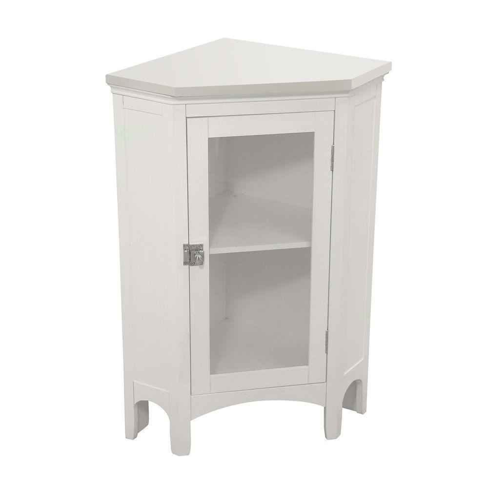 "32/"" White 4 Drawer Wood Bathroom Floor Cabinet Kitchen Storage Cupboard Bedroom"