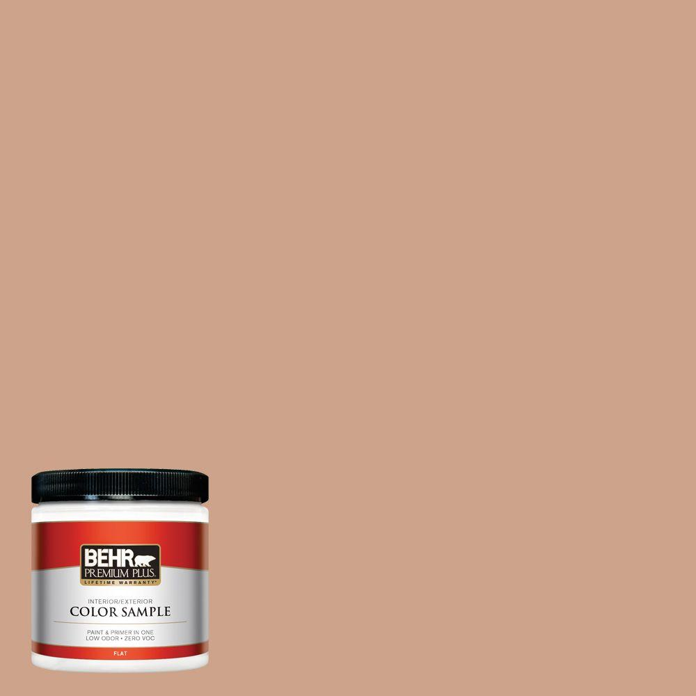BEHR Premium Plus 8 oz. #PMD-76 Sienna Buff Interior/Exterior Paint Sample