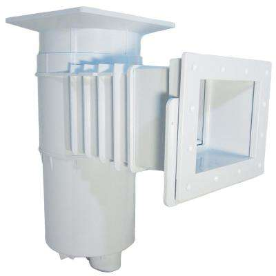 Auto-Skim Series 1.5 in. FIP Vinyl In Ground Thru-Wall Skimmer 8.5 in. Throat Length Square Cover