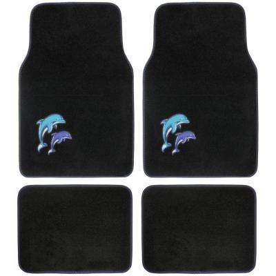 Blue Dolphins MT-515 Design 4 Pieces Carpet Car Floor Mats