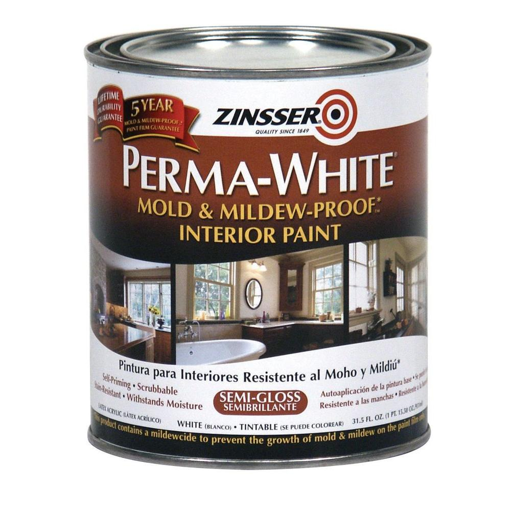 Perma White Mold And Mildew Proof Semi Gloss Interior