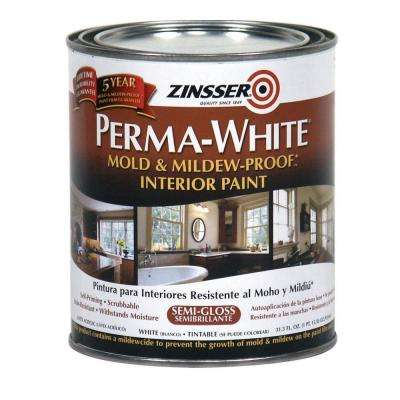 1 qt. Perma-White Mold and Mildew-Proof Semi-Gloss Interior Paint (Case of 6)
