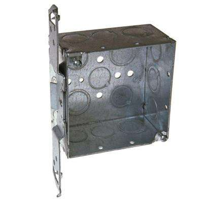 4 in. Square Welded Box, 2-1/8 Deep with 1/2 & 3/4 in. TKO's and TS Bracket (25-Pack)