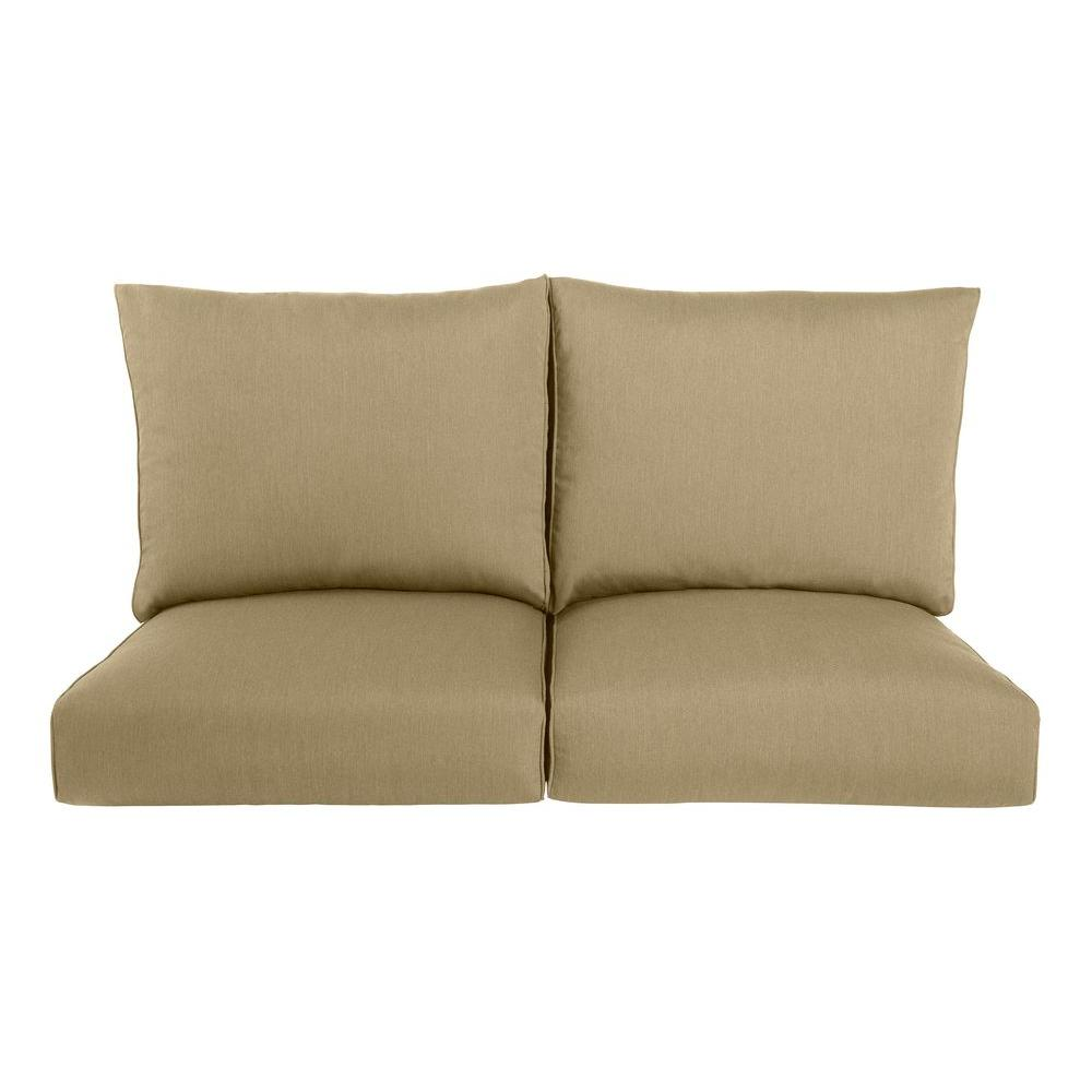 Brown Jordan Highland Replacement Outdoor Loveseat Cushion in Meadow
