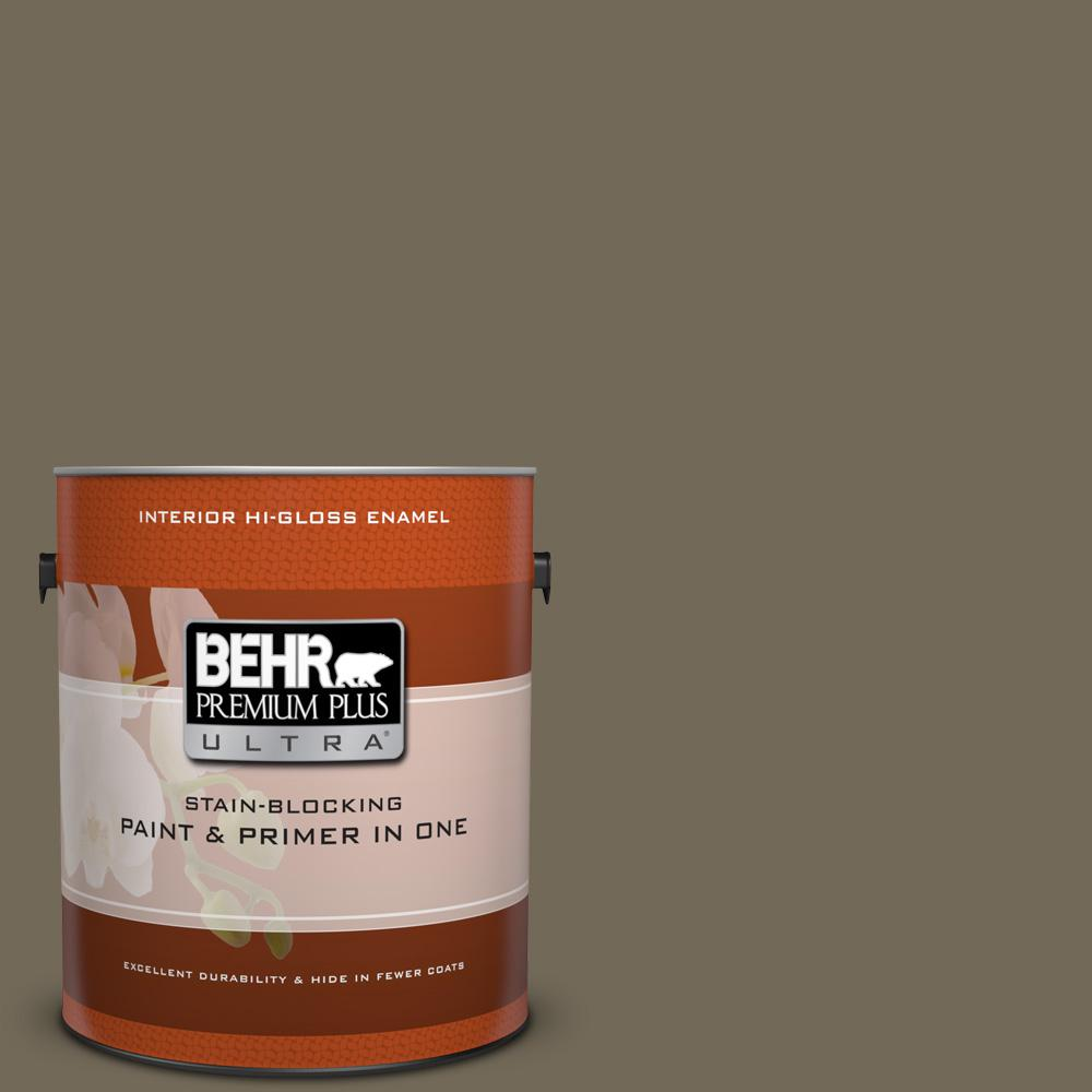 1 gal. #720D-6 Toasted Walnut Hi-Gloss Enamel Interior Paint
