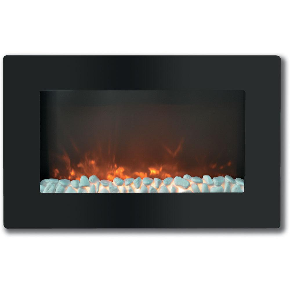 Uncategorized In The Wall Fireplace northwest 36 in electric fireplace color changing wall mount floor stand black 80 wsg03 the home depot
