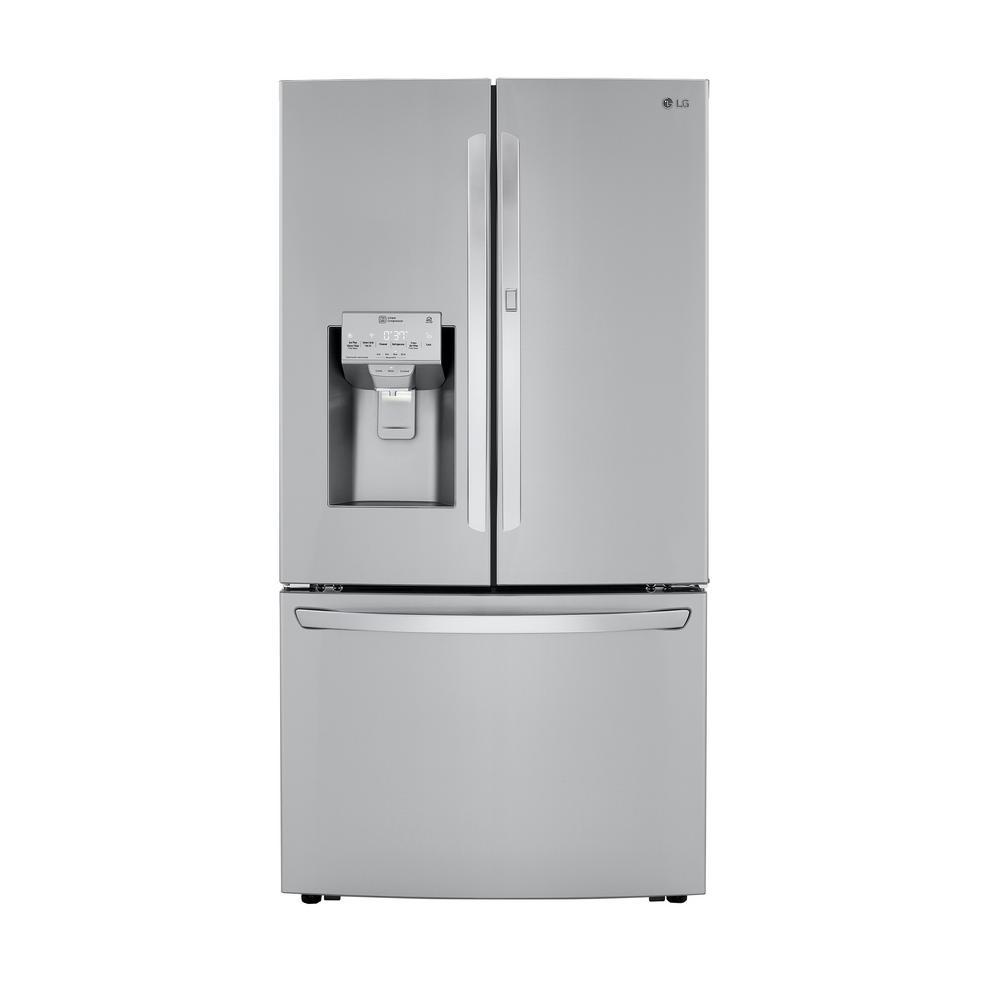 LG Electronics 29.7 cu. ft. Smart French Door Refrigerator, Door-In-Door, Dual Ice Makers with Craft Ice in PrintProof Stainless Steel was $3799.0 now $2428.2 (36.0% off)