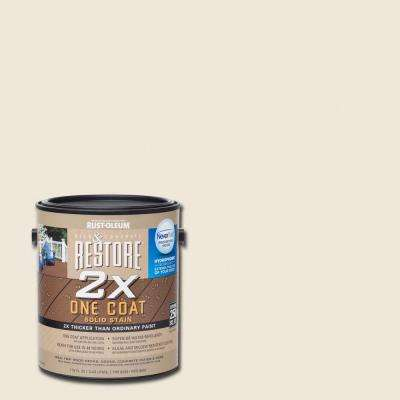 1 gal. 2X Linen Solid Deck Stain with NeverWet