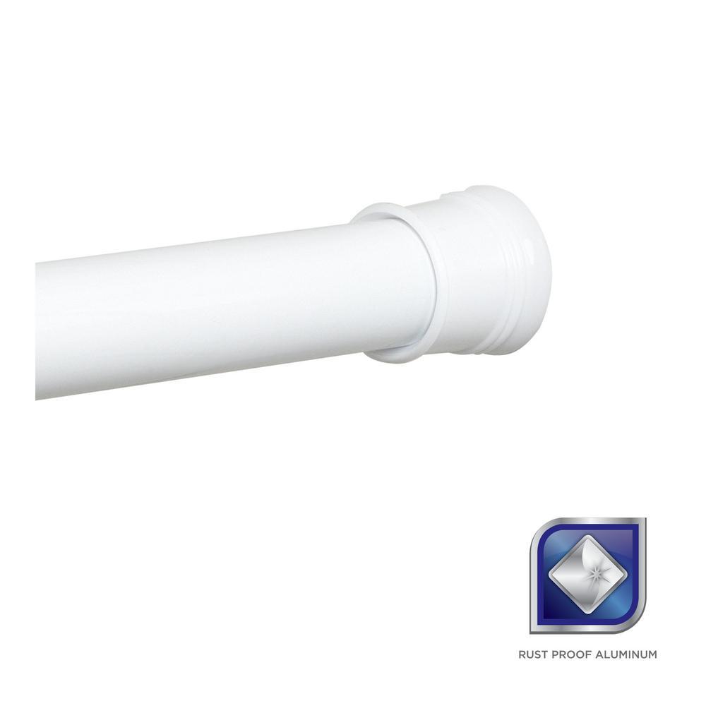 Rustproof 44 in. - 72 in. Aluminum Adjustable Tension No-Tools Shower