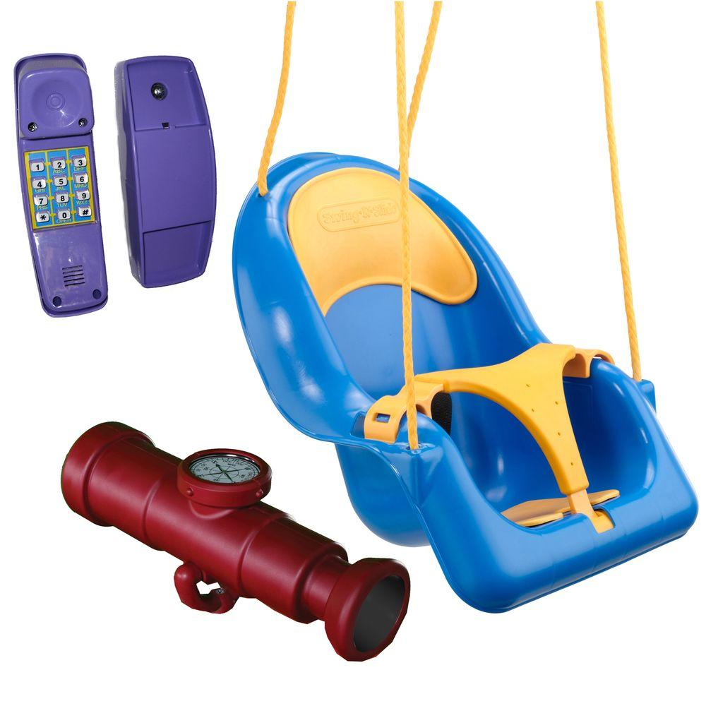 Swing-N-Slide Playsets Start the Fun Play Set Accessory Bundle with Toddler Coaster Swing, Telephone and Telescope