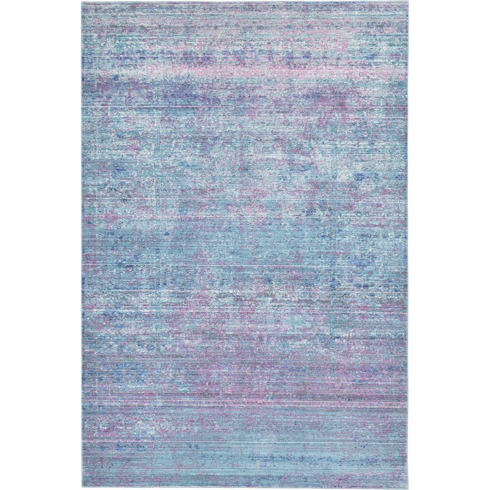 Aria Light Blue 5 ft. x 8 ft. Area Rug