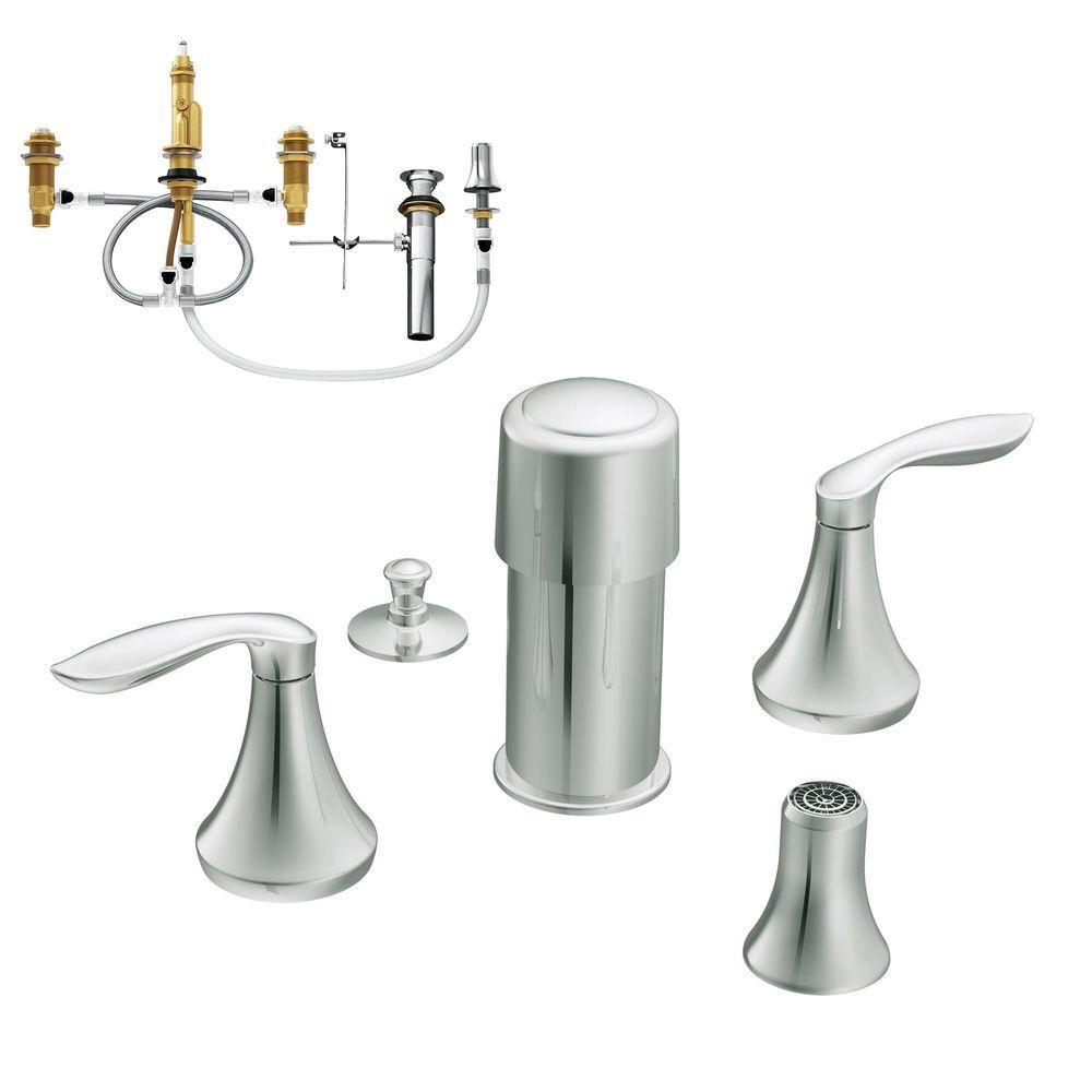 MOEN Icon 8 in. Widespread 2-Handle High-Arc Bathroom Faucet Trim ...