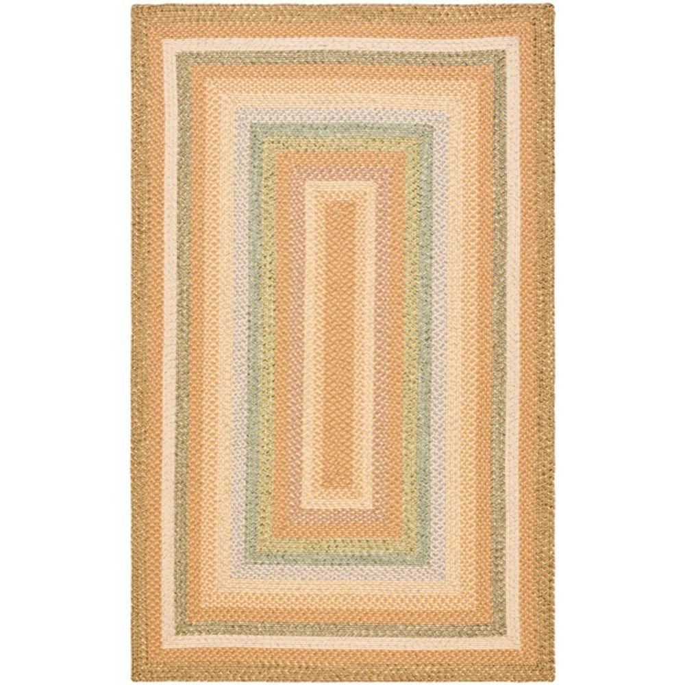 Safavieh Braided Tan Multi 4 Ft X 6 Area Rug